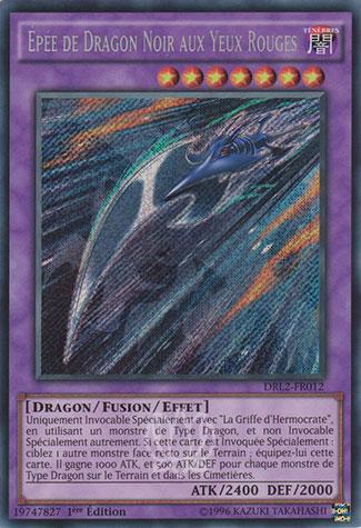 Épée de Dragon Noir aux Yeux Rouges
