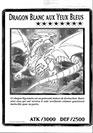 Dragon Blanc aux Yeux Bleus - Oversized