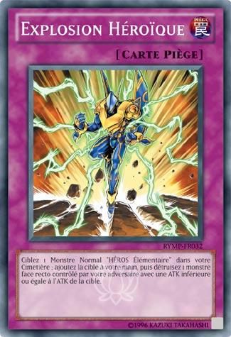 "/""Explosion Héroique//Hero Blast/"" RYMP-FR032 VF//SUPER RARE Yu-Gi-Oh"